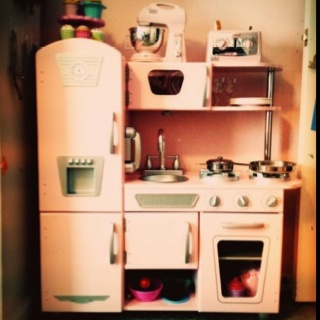 "My budding baker's new ""training kitchen."""
