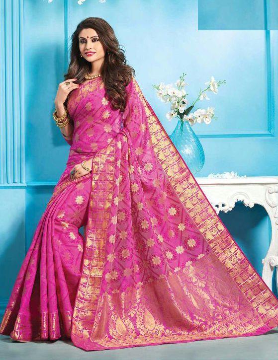 #weddingWear #Saree #Indian #ethnic #zari #Bollywood #bridal #silk #pink #Sari #blouse #new #Handmade #sarees