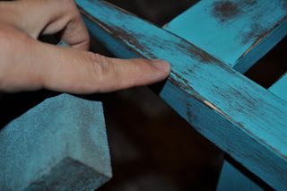 Distressing furniture photoprops