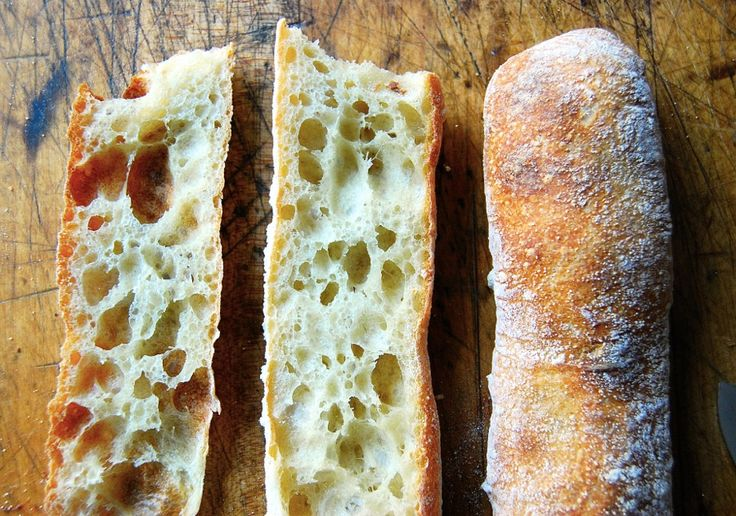 Stirato, a chewy baguette. Takes one long day to make or overnight. (King Arthur Flour)