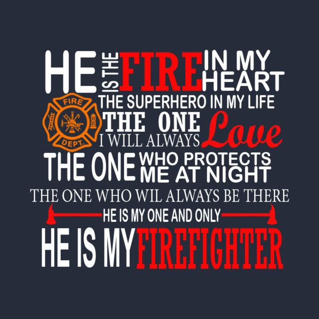 Check out this awesome 'Love+Firefighter' design on @TeePublic!