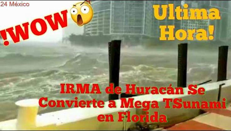 """INCREÍBLE""""! Irma es TISUNAMI Inundó a Miami Mega Olas en la Ciudad"""
