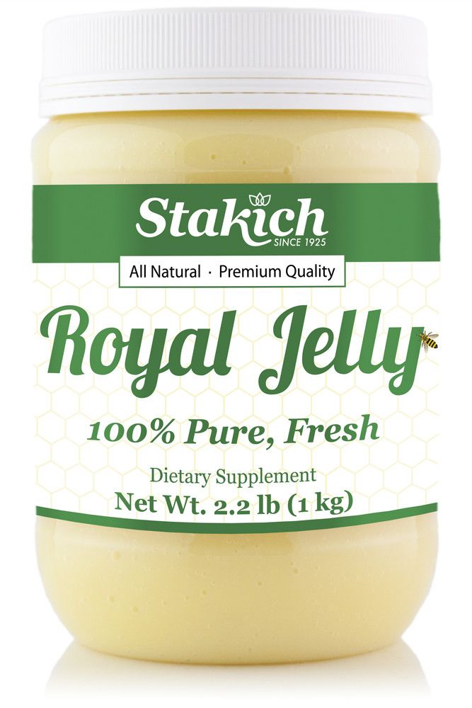 Stakich Royal Jelly is a nutrient-rich food packed with all of the naturally occurring B-vitamins, nucleic acid, essential amino acids, fatty acids, enzymes, essential vitamins and minerals. It is the