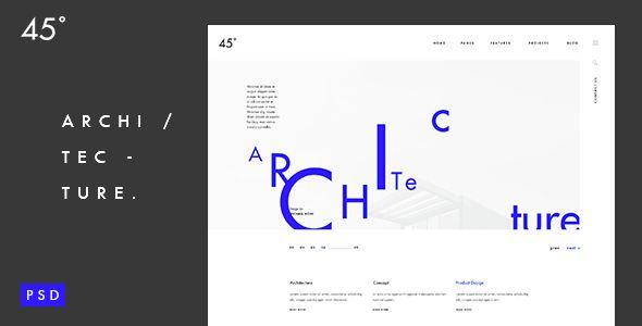 45 degrees - Architecture Studio PSD Template