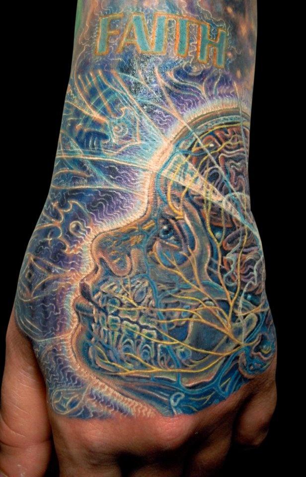 Alex Grey inspired tattoo by James Kern. | Needles & Sins ...