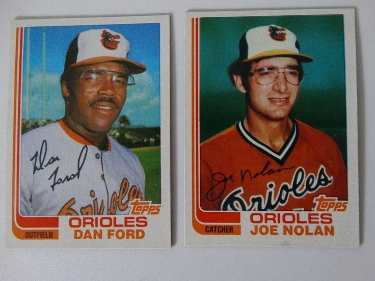 1982 Topps Traded Baltimore Orioles Team Set of 2 Baseball Cards (No Cal Ripken) #BaltimoreOrioles