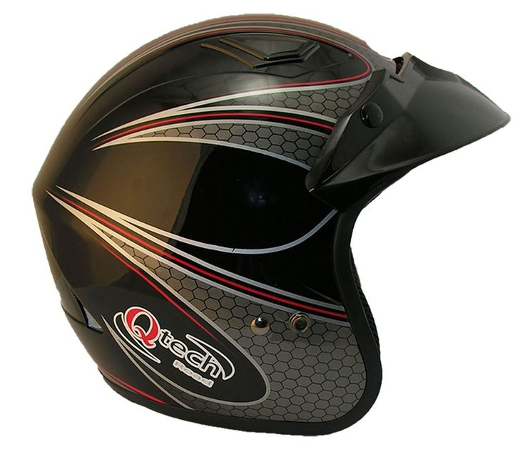 Open Face Motorcycle / Trials Helmet by Qtech £24.95