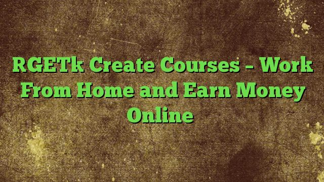 Create Courses - Work From Home and Earn Money Online - http://adf.ly/1VzHf9  Visit http://freedownloadoffers.com to get more latest offers
