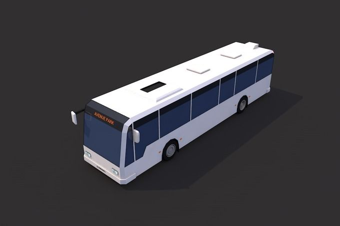 Low Poly City Bus by CreativeeArt on @creativemarket