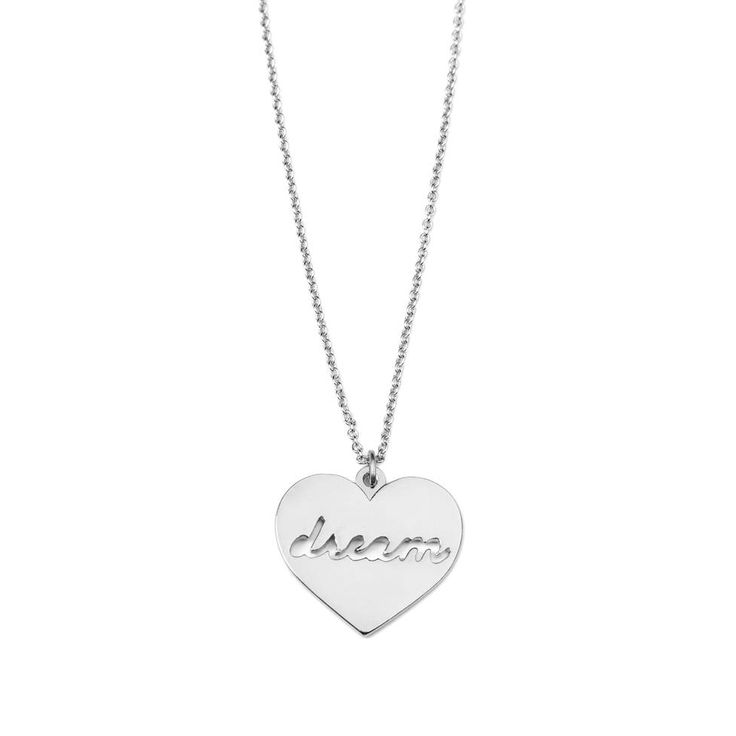 """Dream necklace - available in gold and silver. Get 25% off this necklace with code """"foxypin"""" http://www.foxyoriginals.com/Dream-Necklace-in-Silver-2.html Tags: silver, necklace, heart jewelry, heart, inspirational jewelry"""