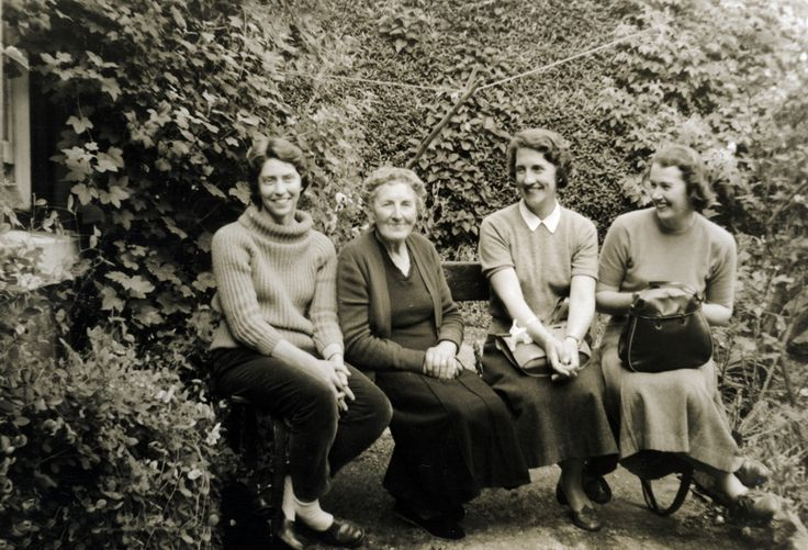 Patricia Friedlander, Enid, Sheila and June in Scotland, 1958.