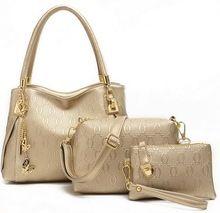 2015 Horké prodávat novou originální kožená taška módní zimní dámské kabelky skořápky taška přes rameno Messenger kabelka + Messenger Bag + Peněženka 3 sady (Čína (pevninská část))