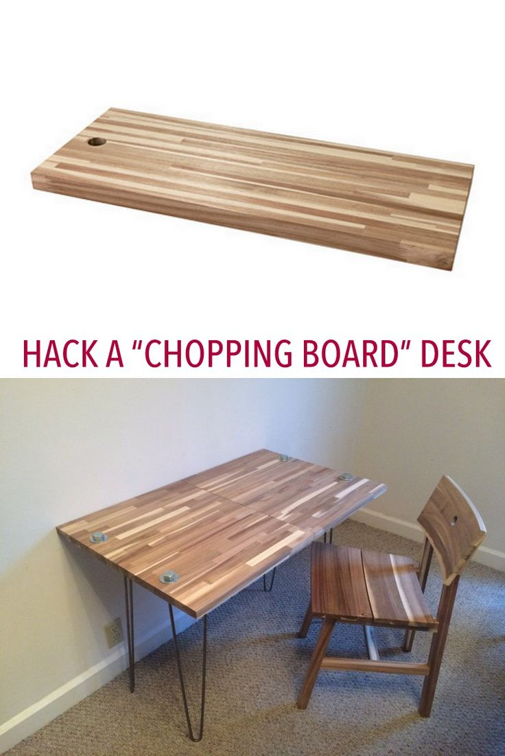 DIY Desk. Chop! Chop! Http://www.ikeahackers.net. Diy SchreibtischHome  ProjekteIkea ...