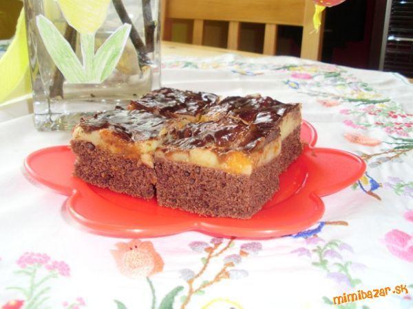 fajný broskyňový koláčik