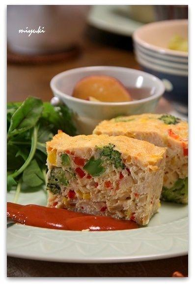ヘルシー♪カラフル野菜のミートローフ by miyukiさん | レシピブログ ...