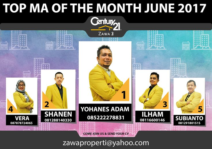 "TOP MA OF THE MONTH CENTURY 21 ZAWA 3 ""JUNE 2017"""