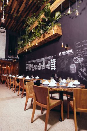 Restaurante le manjue organique s o paulo projeto de - Interiores de restaurantes ...