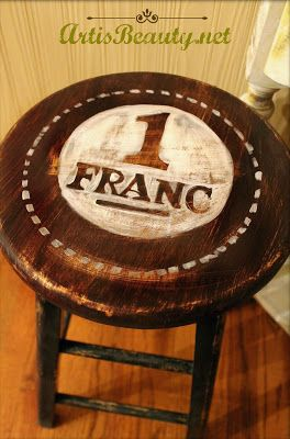 Brag Monday - French Franc Stool & Angel Bottle - The Graphics Fairy