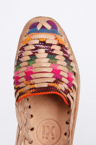 Traditional Mayan Woven Leather Huarache Sandals @accompanyus.