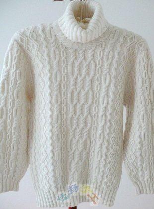 Мужской свитер с аранами
