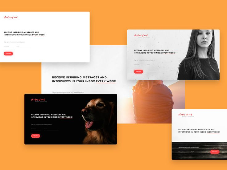 Subscribe Page Templates