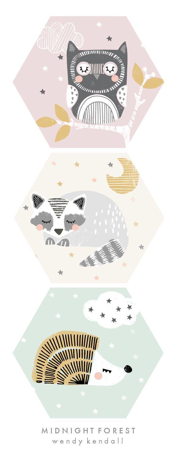 wendy kendall designs – freelance surface pattern designer » midnight forest