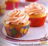 Фото к рецепту: Маффины с масляной глазурью