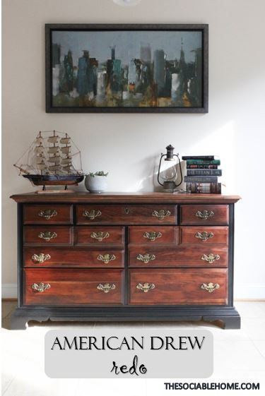 This Solid Cherry American Drew Dresser Has Been Refinished With A Classic And Elegant Design