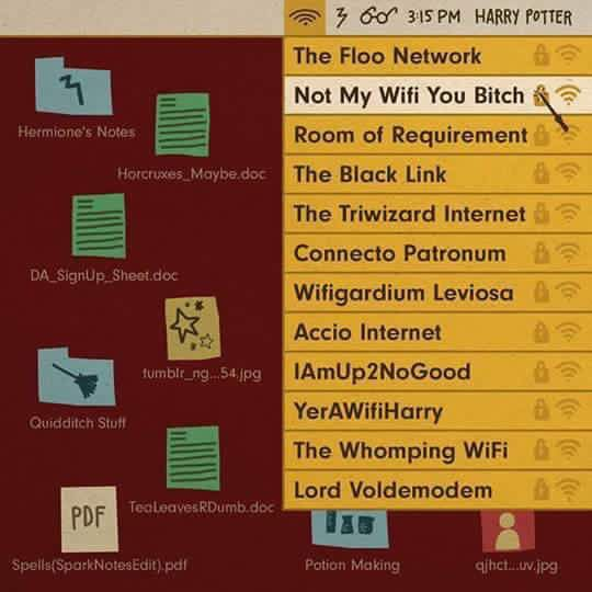 Harry Potter Wifi Names