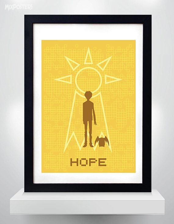 Hey, I found this really awesome Etsy listing at https://www.etsy.com/listing/483815599/digimon-hope-poster-wall-art-print