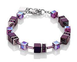 Coeur de Lion - Geo Cube Bracelet - Dark Pink