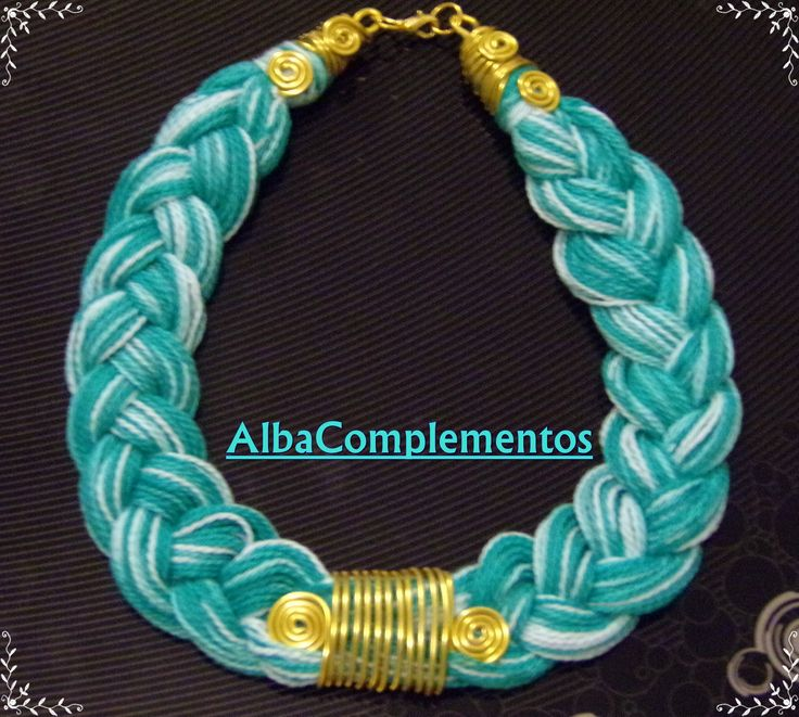 #collar #hechoamano #handmade #AlbaComplementos #bisuteria #complementos #accesorios #verde #dorado #alambre