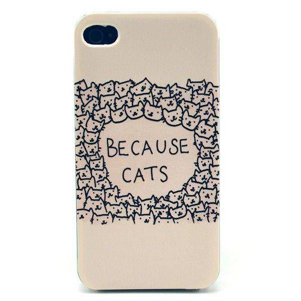 Because Cats hardcase hoesje voor iPhone 4 / 4S