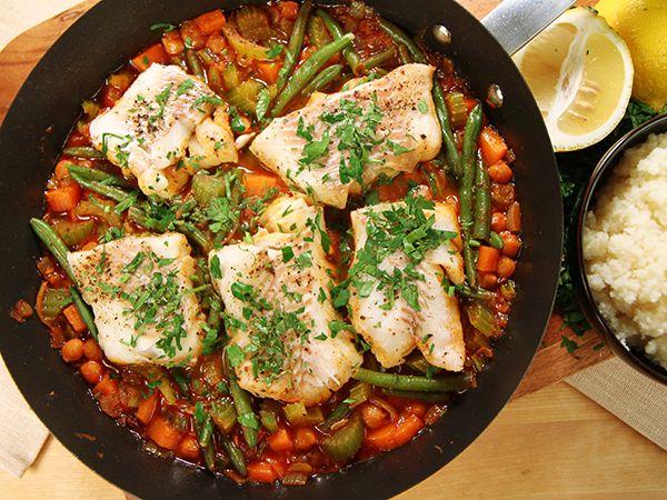 Torsk med kryddiga kikärtor | Recept.nu