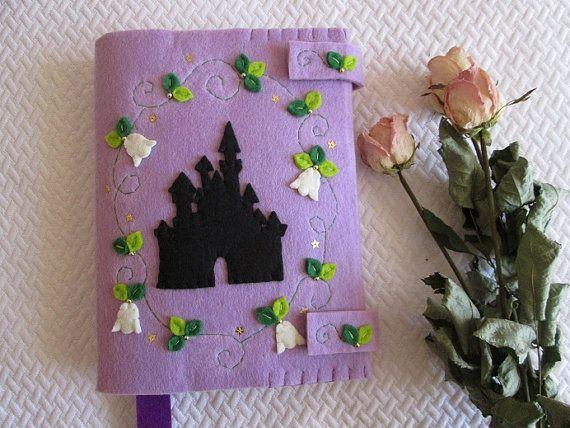 Door felt book with fairytale Castle-gift for readers-felt for book-handmade