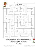 Dr. Seuss The Lorax Maze - Have Fun Teaching
