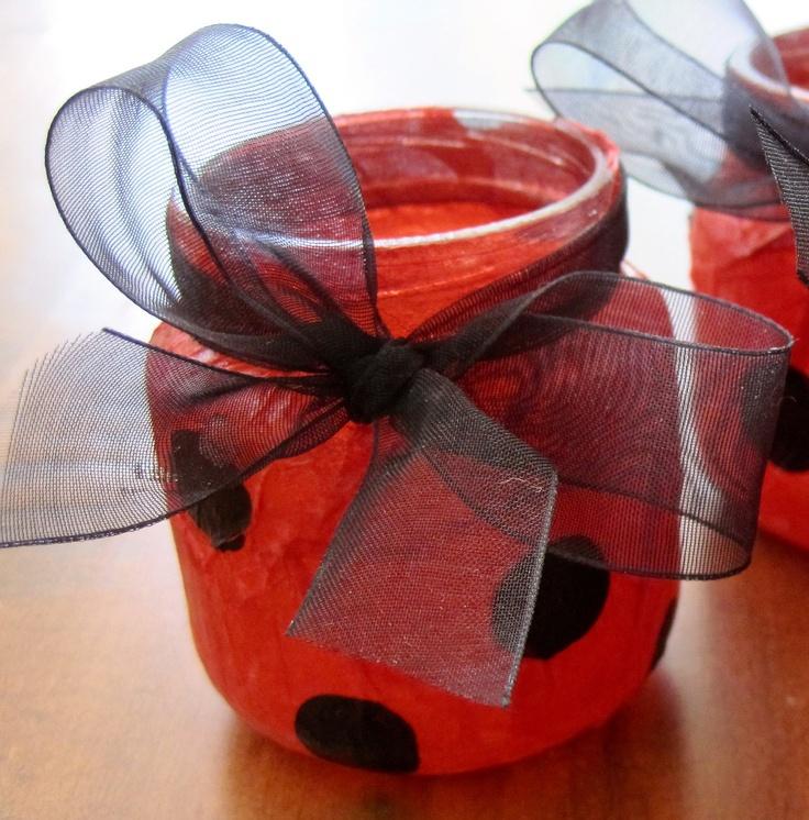 Ladybug Tea Light Votives