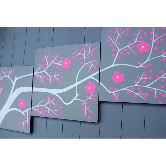 Terbaru 19 Lukisan Bunga Sakura Dari Botol Lukisan Dekoratif Bunga Sakura H4 02 Pink Hiasan Dekorasi Dinding Lukisan Kanvas Lukisan Bunga Bunga Sakura Bunga