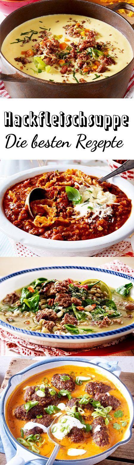 Wohlfühlessen für große Runden: Mit einer Hackfleischsuppe machst du eigentlich nie etwas falsch. Die besten Rezepte, von Chili con carne bis Käse-Lauch-Suppe!