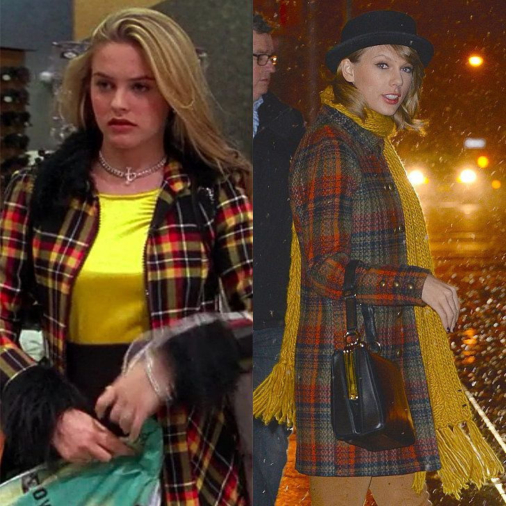 When Taylor Swift Knew Her Coat Needed a Splash of Something Yellow