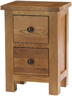 £109 Buy Canterbury Solid Oak and Pine Bedside Table from our Bedside Chests & Tables range - Tesco.com