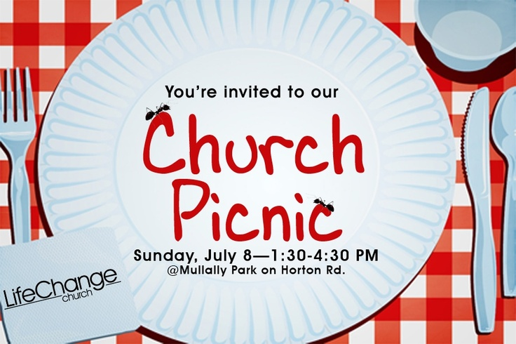 Have you heard about our church picnic? Be sure to check it out on Sunday, July 8 at Mullally Park from 1:30-4:30 pm!