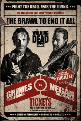 - Poster - Negan and Rick Fight