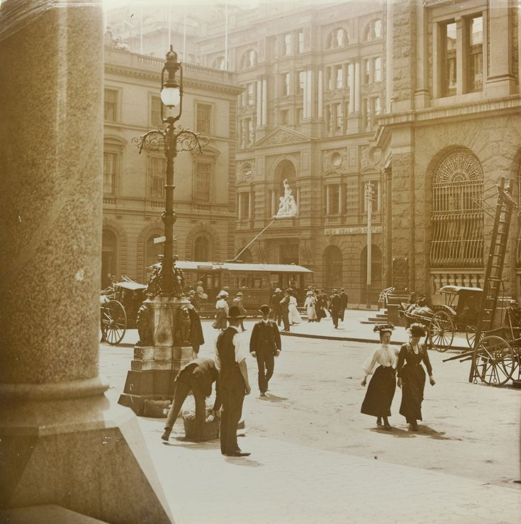 The George Street end of Martin Place,Sydney in c1905.A♥W