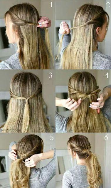 Peinado Facil Y Rapido Para Diario Peinados Pinterest