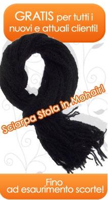 Offerta del Momento!  Gratis Sciarpa in Mohair Made in Italy