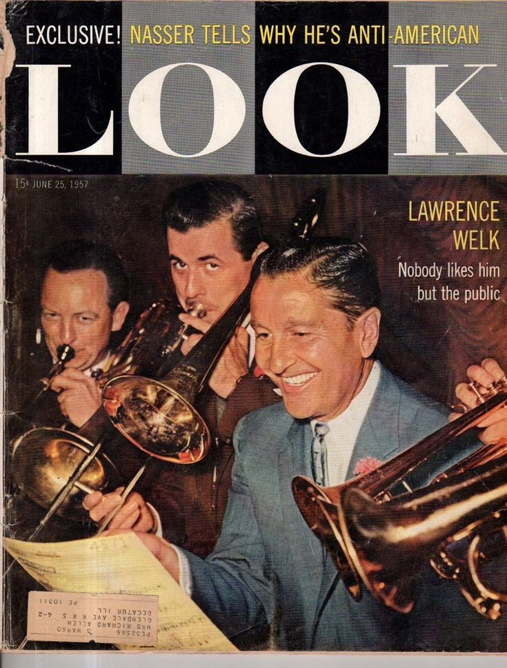1957 LOOK June 25 - Lawrence Welk; Milwaukee Braves; natalie Wood; Dachshund #LOOK