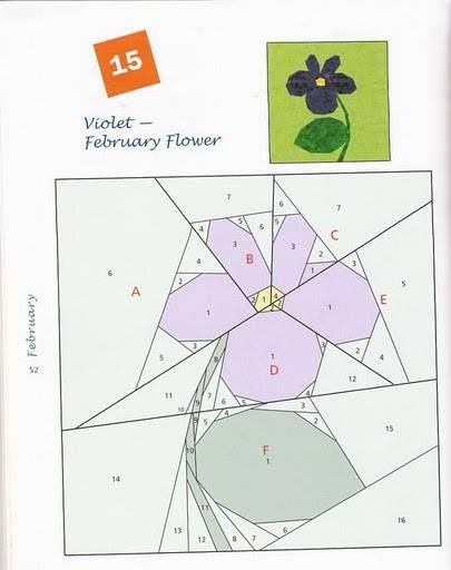 Violet - paper piecing