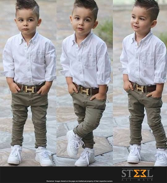 When it comes to style, age is not a bar !  LIKE & SHARE if you loved the attitude of this stylish kid :)  #Kid #Style #Fashion #Jeans #Denim #MaleFashion #Belts #Shoes