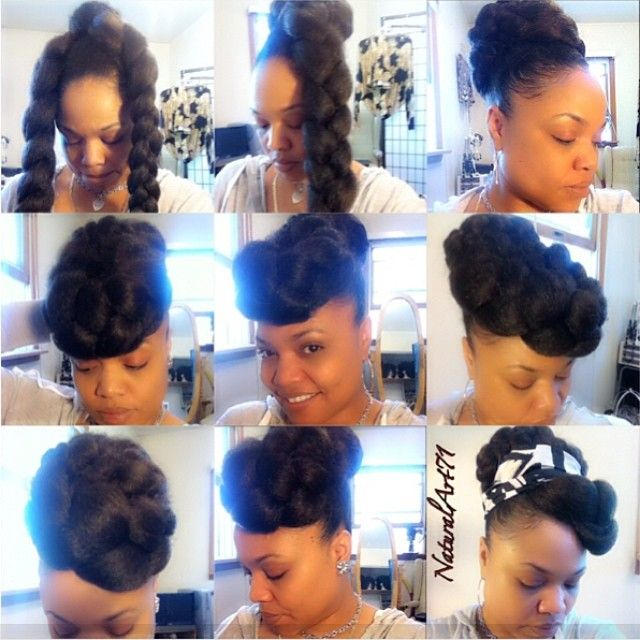 "226 Likes, 42 Comments - Naturally FyneArt  (@naturalart71) on Instagram: ""#Fauxbun #styles using #JumboBraidingHair so versatile & so inexpensive!! I literally did like 5…"""